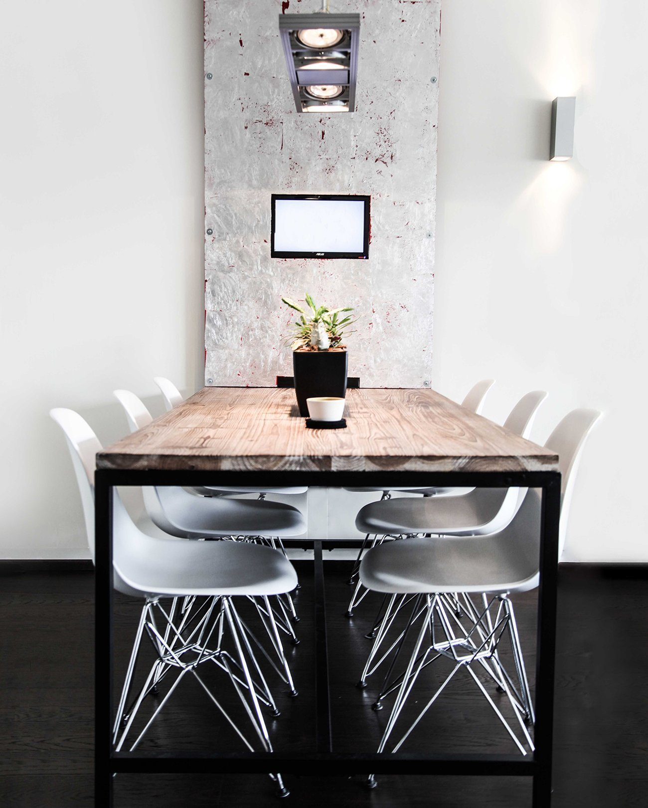Meeting room near Basel table office interior by ZWEI Design