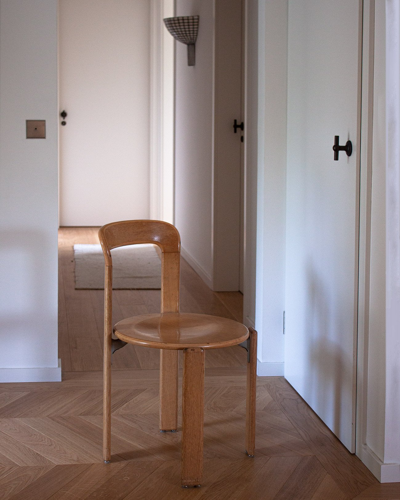 Bruno Rey natural wood dining chair